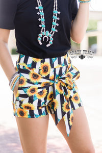 Let your light shine tie shorts
