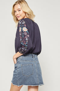 Kimmy embroidered top