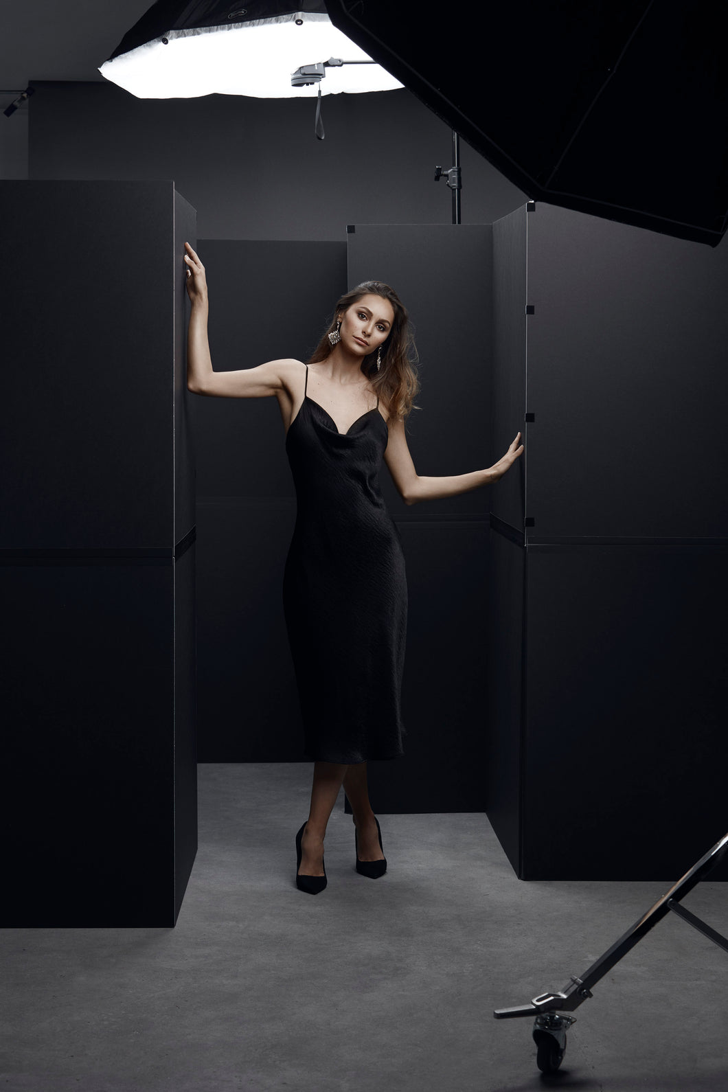 image of girl in black dress