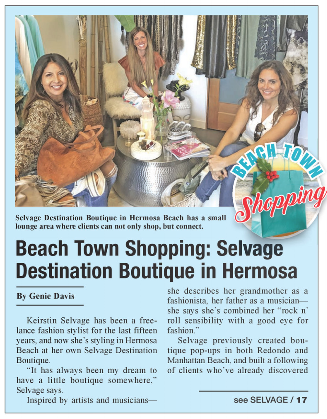 Hermosa Beach Town Shopping: Selvage Styling Destination Boutique Vintage Clothing
