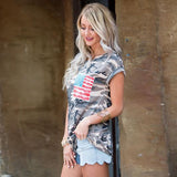 Exclusive Camouflage American Pocket Tee