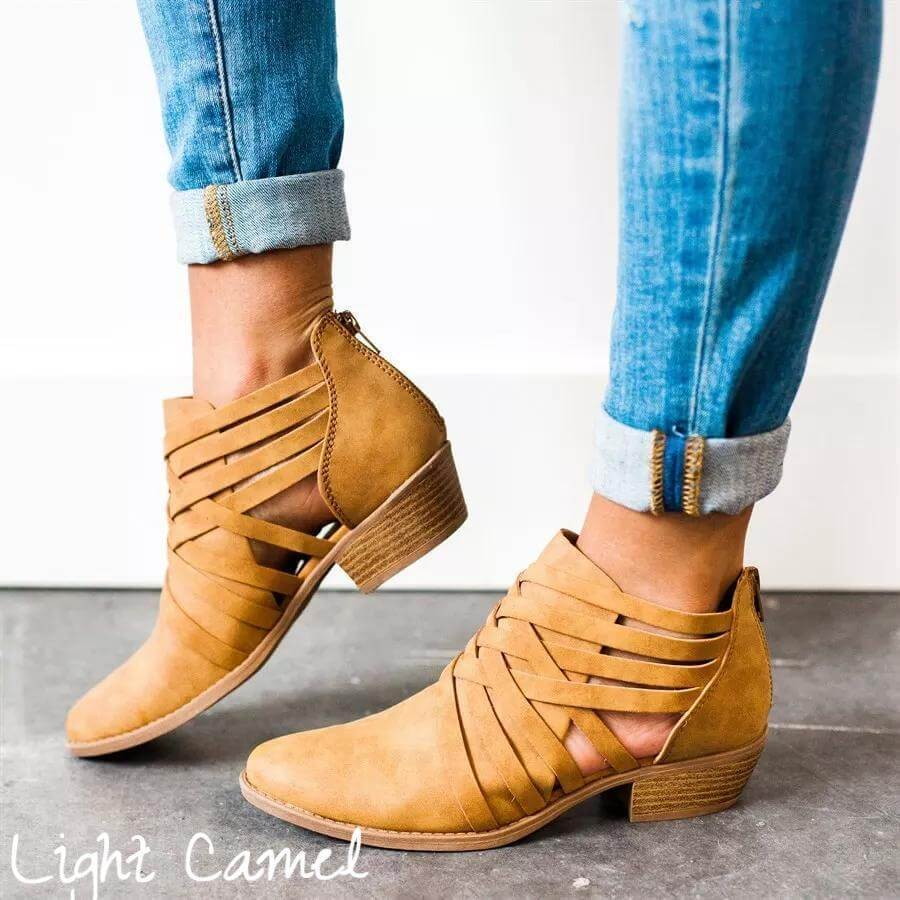 2019 Chic Criss-Cross Ankle Boots