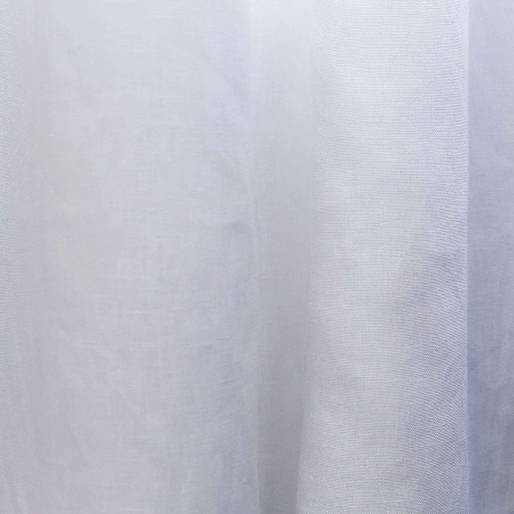Madison Snow 100% Linen Custom Curtains