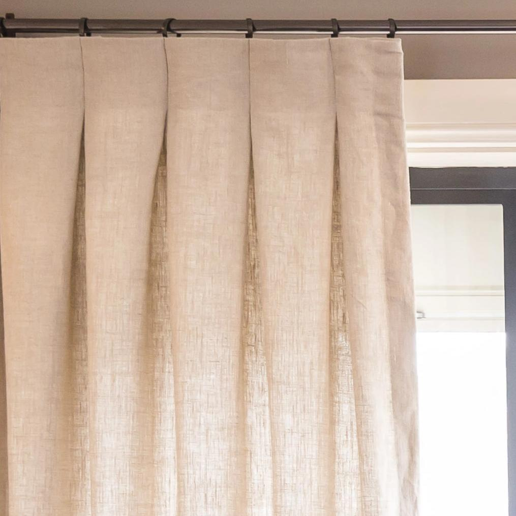 Madison Natural 100% Linen Custom Curtains