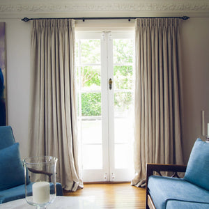 Madison Beach 100% Linen Custom Curtains