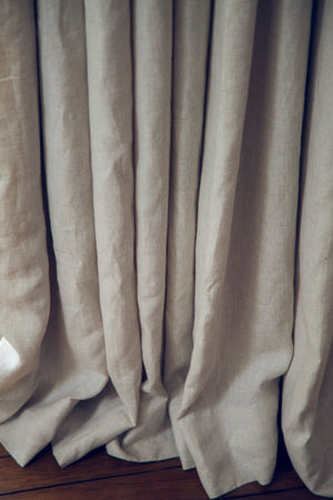 Madison Solid Linen Drapes 30+ Colours Made to Measure Curtains