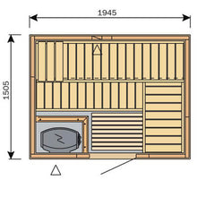 Load image into Gallery viewer, Harvia Variant Square Sauna - 1945mm x 1505mm
