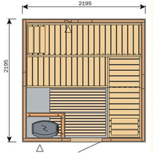 Load image into Gallery viewer, Harvia Variant Square Sauna - 2195mm x 2195mm