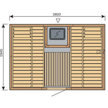 Load image into Gallery viewer, Harvia Variant Square Sauna - 2820mm x 1945mm - Central Door