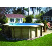 Deluxe Above Ground Wooden Pool - 6m x 4.2m