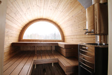 Load image into Gallery viewer, Deluxe Barrel Sauna 4.2m