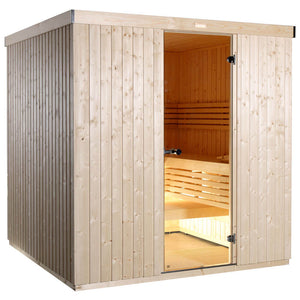 Harvia Variant Square Sauna - 2380mm x 1945mm