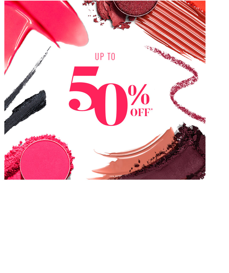 Up to 50% Off + makeup swatches and smears