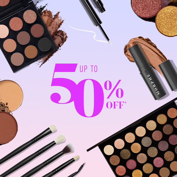 Up to 50% off Morphe product on sale