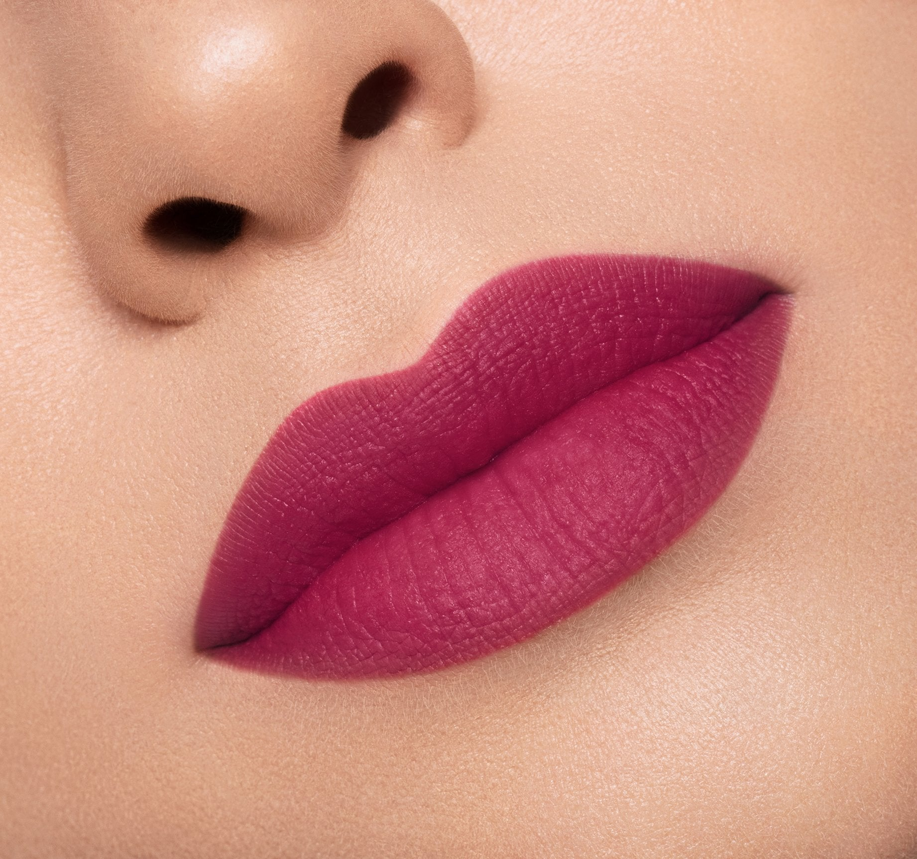 MATTE LIPSTICK - LUST ON MODEL, view larger image