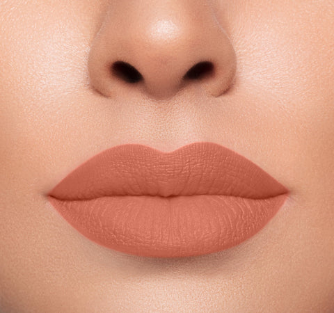 MEGA MATTE LIPSTICK - KISSY FACE ON MODEL