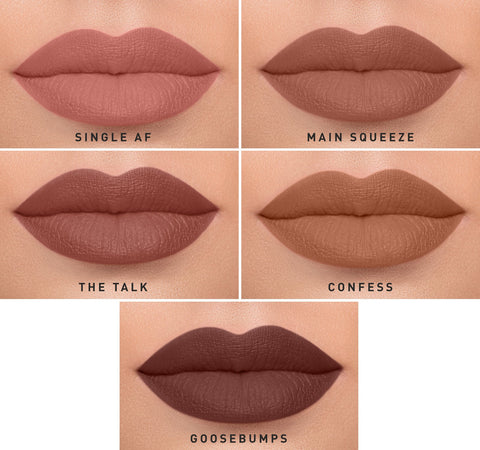 MEGA MATTE LIPSTICK COLLECTION ON MODEL