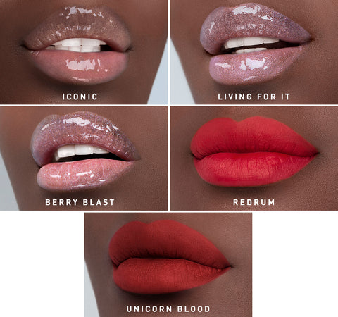 MORPHE X JEFFREE STAR ICONIC BOLDS LIP COLLECTION ON MODEL