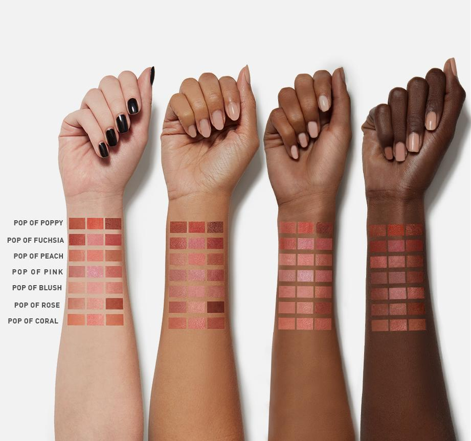 BLUSHING BABES - POP OF FUCHSIA ARM SWATCHES, view larger image
