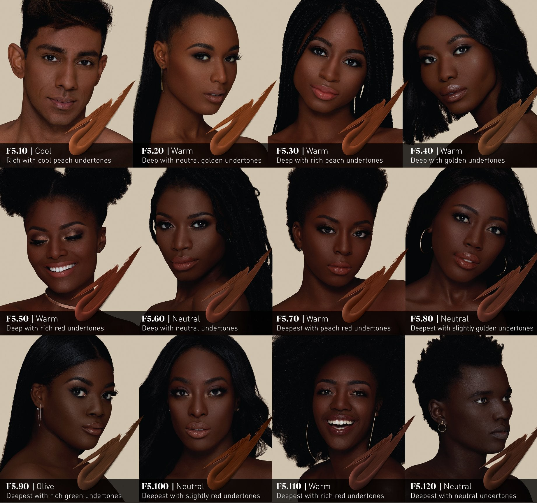 FLUIDITY FULL-COVERAGE FOUNDATION - F5.110 ON MODEL, view larger image