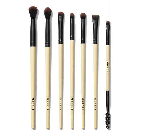 EARTH TO BABE 7-PIECE BAMBOO EYE BRUSH SET