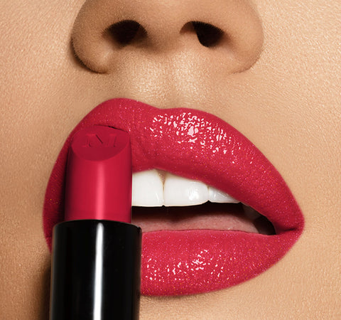 OUT & A POUT CANDY RED LIP TRIO ON MODEL
