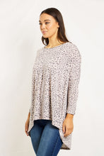 Load image into Gallery viewer, Oversized Animal Printed Top - Blush