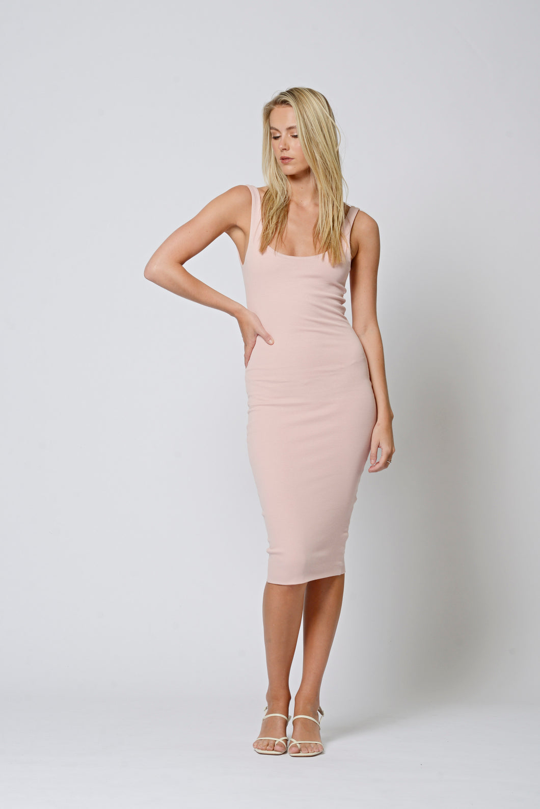 Sydney Blush Cotton Dress