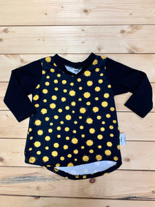 Edgy Tee - Yellow Splats
