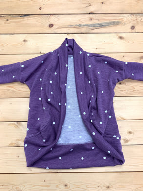 Ladies - Dark Purple Polka Dot