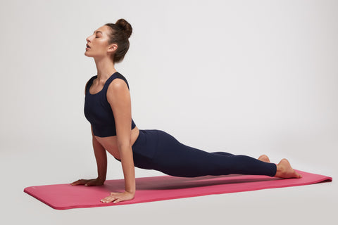 Cobra pose, yoga, i feel good, ifgfit, posture, good posture, shirt, downward dog, apparel therapy, chest expansion, restore posture, better breathing
