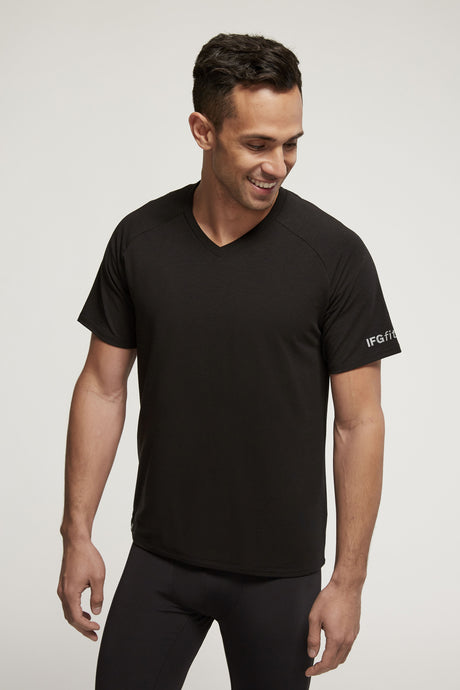 Men's Tencel V-Neck Posture Shirt (Eco-Friendly)