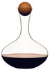 Wine carafe with oval oak stopper