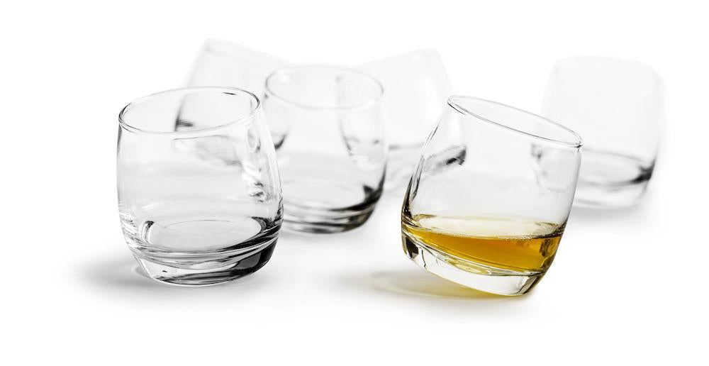 Bar Whiskey glasses with rounded base, 6-pack