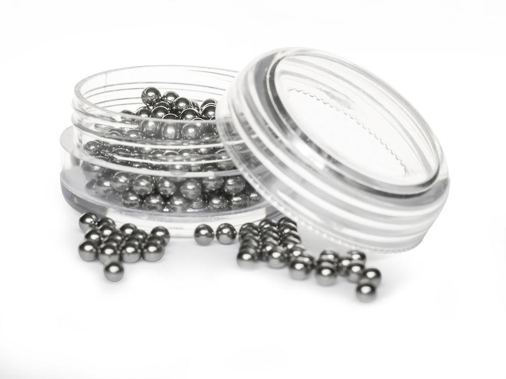 Carafe cleaner - Stainless steel balls