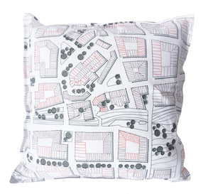 Born in Sweden Pillowcase Sweden from above City