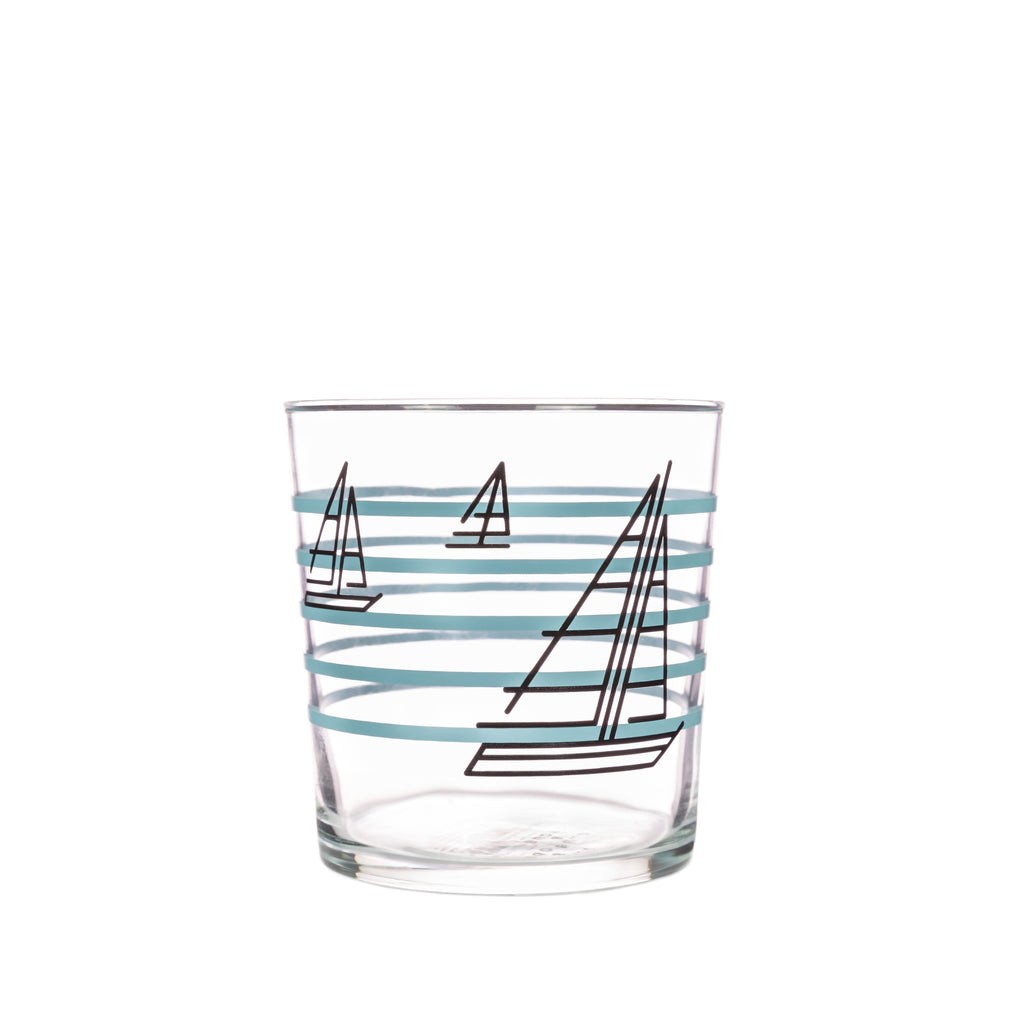Bert & Buoy Glass Tumbler Boat Race