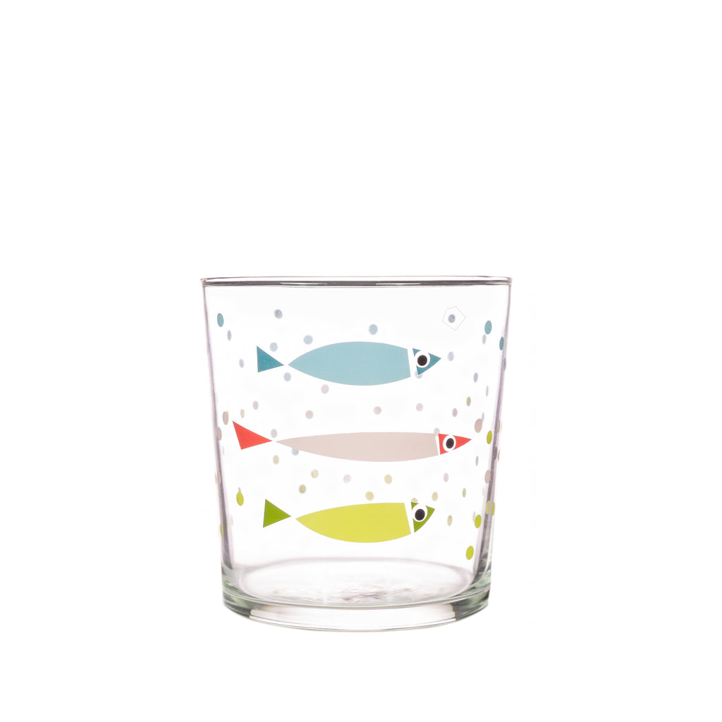 Bert & Buoy Glass Tumbler Fishy Bubbles