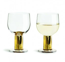 Club wine glass gold, 2-pack