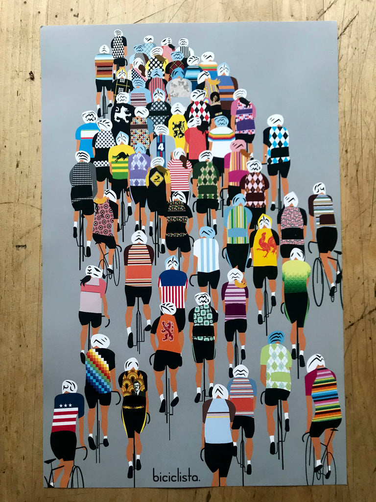 Biciclista Gruppone Poster