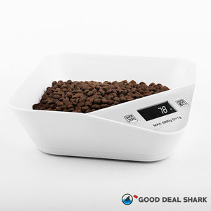 Antibacterial Pet Bowl with Weighing Scale