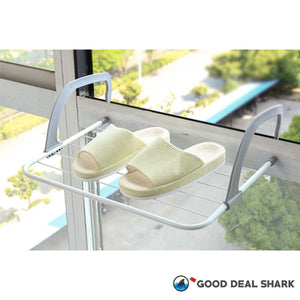 Balcony Glass Handy Hanging Rack