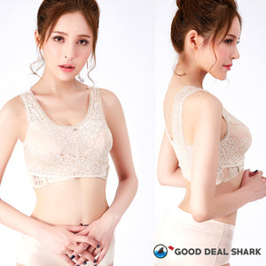Front Support CrissCross Lace Bra