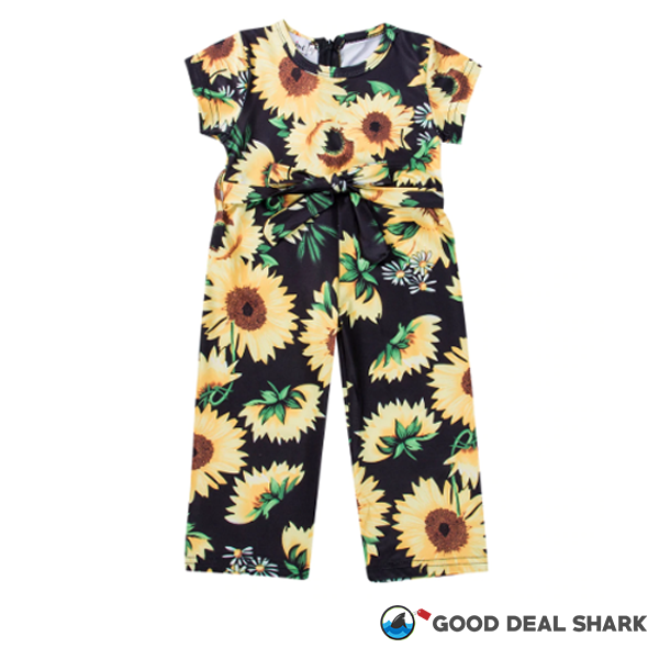 Sunflower Delight Jumpsuit & Headband Set