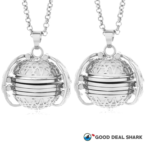 4-Chambered Ball Locket Necklace