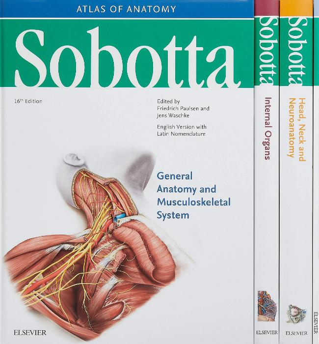 Sobotta Atlas of Anatomy, Package, 16th ed., English/Latin : Musculoskeletal System; Internal Organs; Head, Neck and Neuroanatomy; Muscles Tables