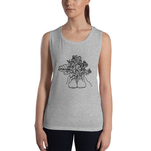 Shoes with Flowers Ladies' Tank