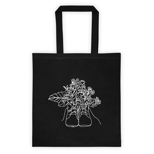 Shoes with Flowers Tote bag