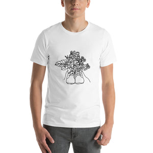 Shoes with Flowers Unisex T-Shirt