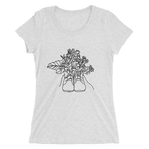 Shoes with Flowers Ladies' T-Shirt